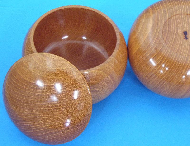 高級木製碁笥 欅(けやき)生地極上大33号