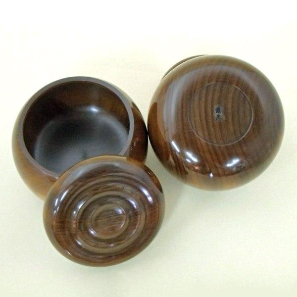手作木製碁笥 楠極上徳川型 特大36号