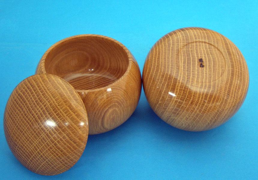 高級木製碁笥 楢(なら)極上特大36号