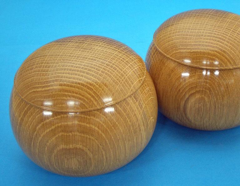 手造り木製碁笥楢極上特大36号