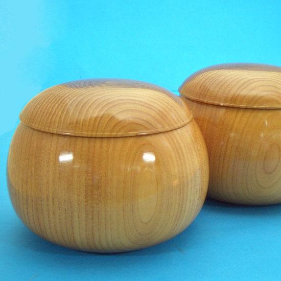高級木製碁笥桜生地極上33号大